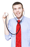 Isolated Doctor With Smile On White Background Stock Image