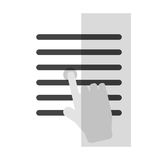 Isolated document paper and cursor design. Document paper and cursor icon. Data archive office and information theme. Isolated design. Vector illustration Royalty Free Stock Photography