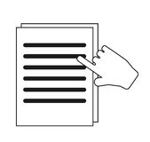 Isolated document paper and cursor design Royalty Free Stock Images