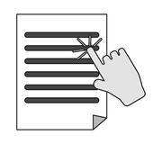 Isolated document paper and cursor design Stock Image