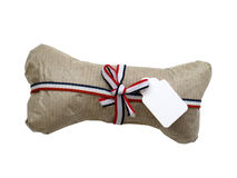 Isolated dog bone gift wrapped Stock Image