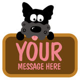 Isolated dog holding sign vector illustration