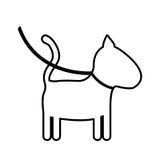 Isolated dog mascot design Royalty Free Stock Photo