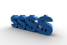 Isolated dollar symbols Stock Image