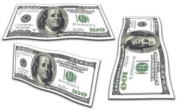 Isolated Dollars Stock Images
