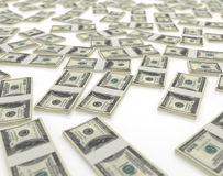 Isolated dollars Royalty Free Stock Image