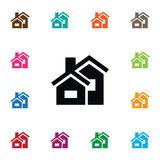 Isolated Domicile Icon. Property Vector Element Can Be Used For Domicile, Mortgage, Property Design Concept. Royalty Free Stock Photos