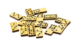 Isolated dominos Stock Images