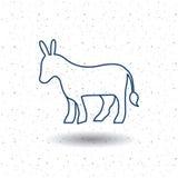 Isolated donkey animal design Stock Photo