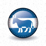 Isolated donkey button of vote concept Royalty Free Stock Images