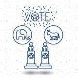 Isolated Donkey and elephant of vote concept Royalty Free Stock Image