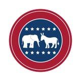 Isolated donkey and elephant of vote design Royalty Free Stock Images