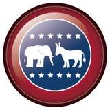 Isolated donkey and elephant of vote design Stock Photos
