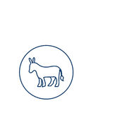Isolated donkey silhouette design Royalty Free Stock Photos
