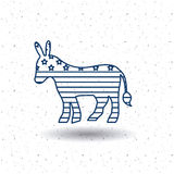Isolated donkey of vote concept Royalty Free Stock Images