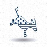 Isolated donkey of vote concept Stock Image