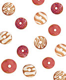 Isolated donuts pattern Stock Photography