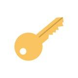 Isolated door key Royalty Free Stock Photos