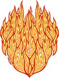 Hot fire pattern. Isolated drawing flat detailed abstract pattern with hot fire Royalty Free Stock Photography