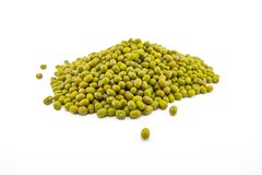 Isolated of dried mung beans stock photo