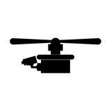 Isolated drone design Royalty Free Stock Images