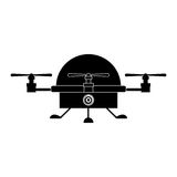 Isolated drone design Royalty Free Stock Photos