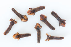 Isolated dry cloves still life Royalty Free Stock Images