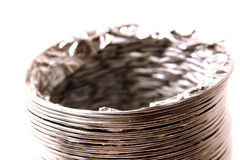 Isolated Dryer Vent Hose. On White Background Royalty Free Stock Photo