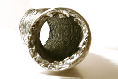 Isolated Dryer Vent Hose. On White Background Stock Photography