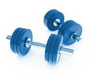 Isolated dumb bells Royalty Free Stock Photo