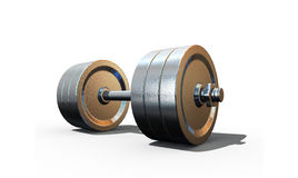 Isolated dumbbell Royalty Free Stock Photography