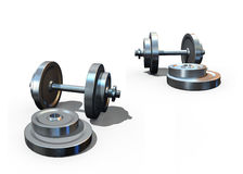 Isolated dumbbells Stock Photos