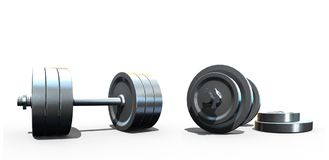 Isolated dumbbells Royalty Free Stock Photography