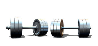 Isolated dumbbells Royalty Free Stock Images
