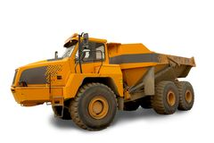 Isolated dump truck Stock Images