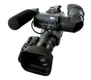 Isolated dv camcorder Royalty Free Stock Photos