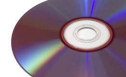 Isolated DVD. Close up in landscape format Royalty Free Stock Photo