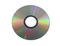 Isolated dvd disk Stock Photo