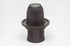 Isolated E14 Lamp holder. Isolated black E14 Lamp holder Royalty Free Stock Photo