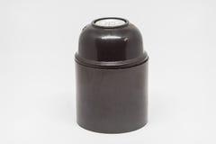Isolated E27 Lamp holder. Isolated black E27 Lamp holder Royalty Free Stock Photography