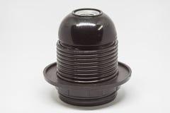 Isolated E27 Lamp holder. Isolated black E27 Lamp holder Stock Images