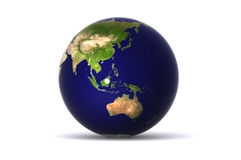 Isolated earth (australia) Stock Images