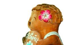 Isolated Earthenware doll Stock Image