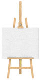 Isolated Easel and Canvas. Stock Image
