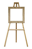 Isolated easel with frame Royalty Free Stock Image