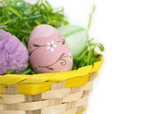Isolated Easter basket Royalty Free Stock Image