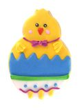 Isolated easter chick cookie Royalty Free Stock Images