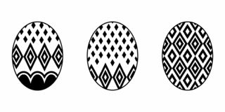Isolated Easter Egg vector illustration