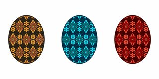 Isolated Easter Egg, Colorful vector illustration