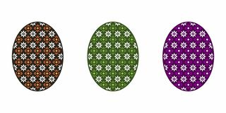 Isolated Easter Egg, Colorful royalty free illustration